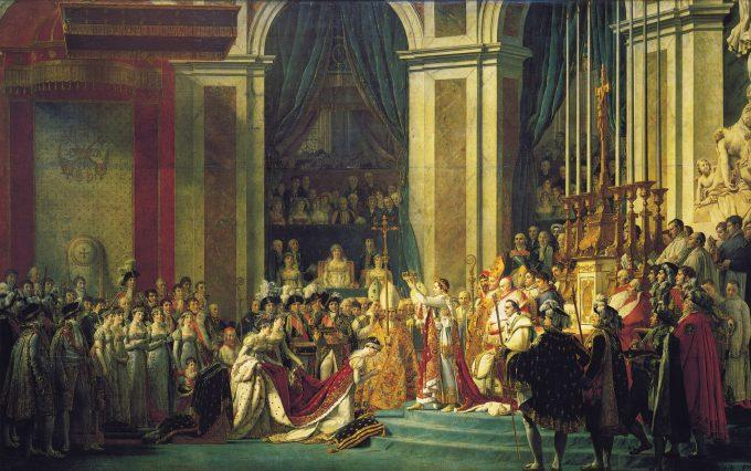 「皇帝ナポレオン一世と皇后ジョゼフィーヌの戴冠式」
